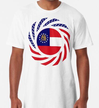 Georgian Murican Patriot Flag Series Long T-Shirt