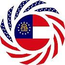 Georgian Murican Patriot Flag Series by Carbon-Fibre Media