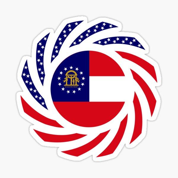Georgian Murican Patriot Flag Series Sticker