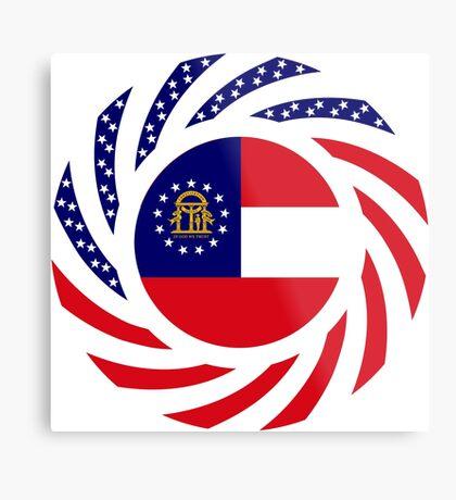 Georgian Murican Patriot Flag Series Metal Print