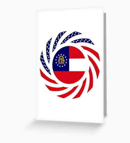 Georgian Murican Patriot Flag Series Greeting Card