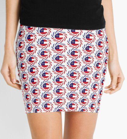 Georgian Murican Patriot Flag Series Mini Skirt