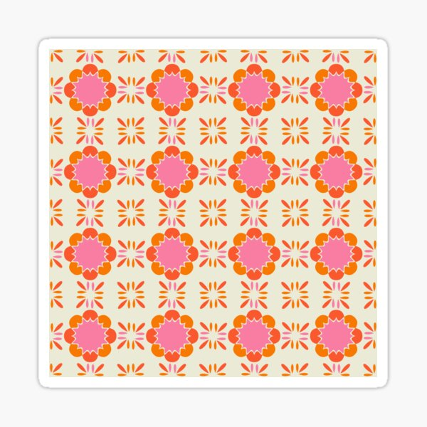 Sixties Tile  Sticker