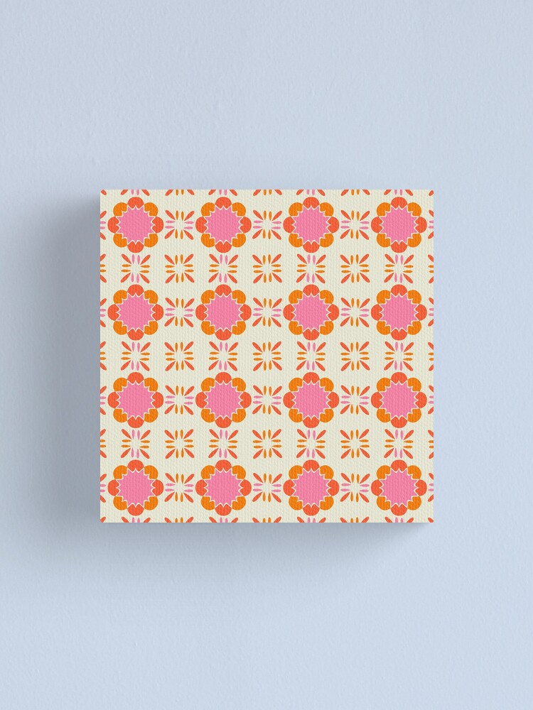 Alternate view of Sixties Tile  Canvas Print