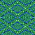 Blue Green Pattern Design by Julia Woodman