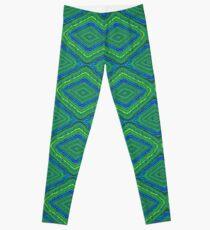 Blue Green Pattern Design Leggings