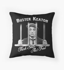 Buster Keaton Quote Throw Pillow
