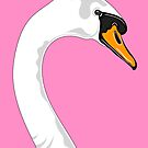 Pink Swan Portrait by Adam Regester