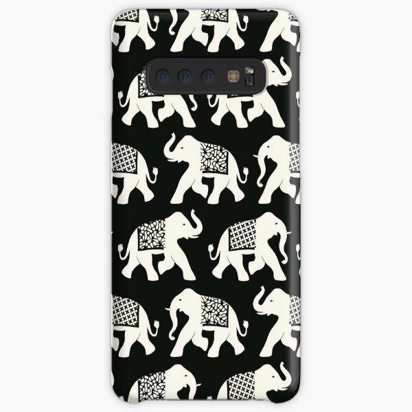 Elephants, black and cream Samsung Galaxy Snap Case