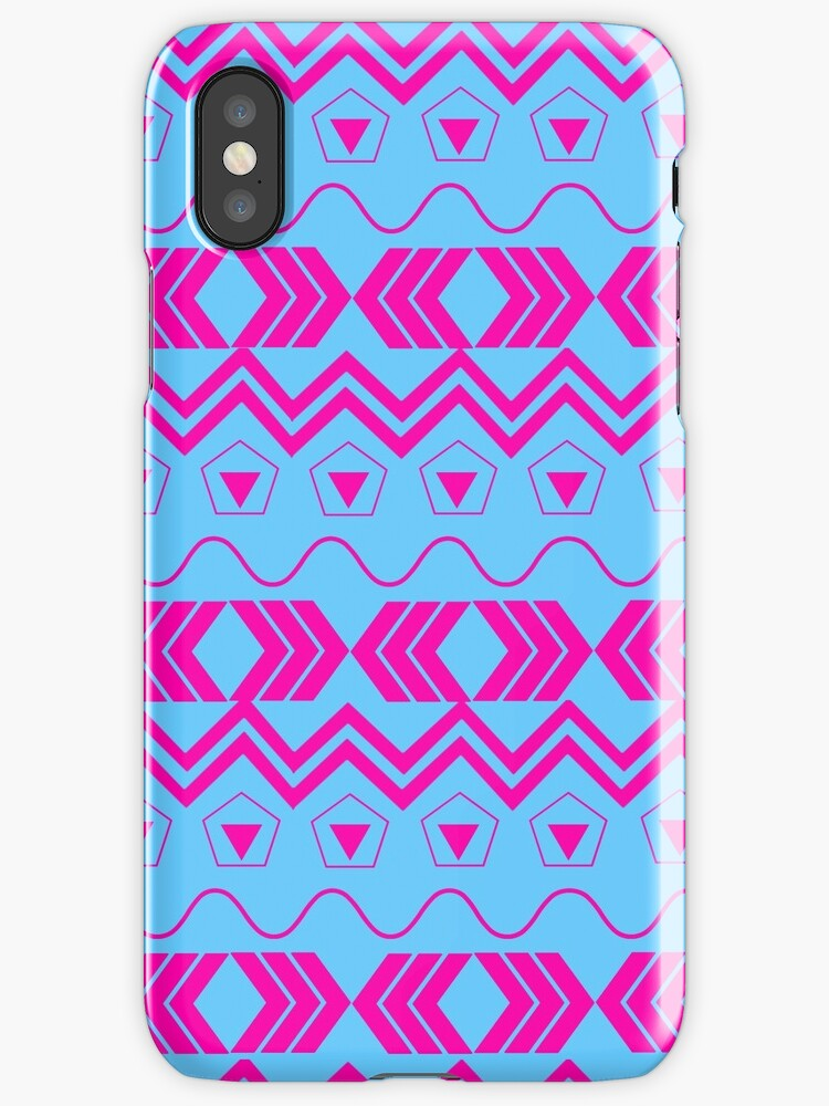 Blue & Pink Tribal Pattern by Exceptionally Beautiful