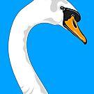 Blue Swan Portrait by Adam Regester