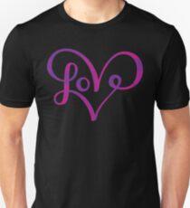 Cute Love Heart Script Lettering Unisex T-Shirt