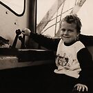 Young Train Driver by Andrew  Makowiecki