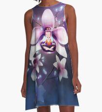 Orchideen Meditation A-Linien Kleid