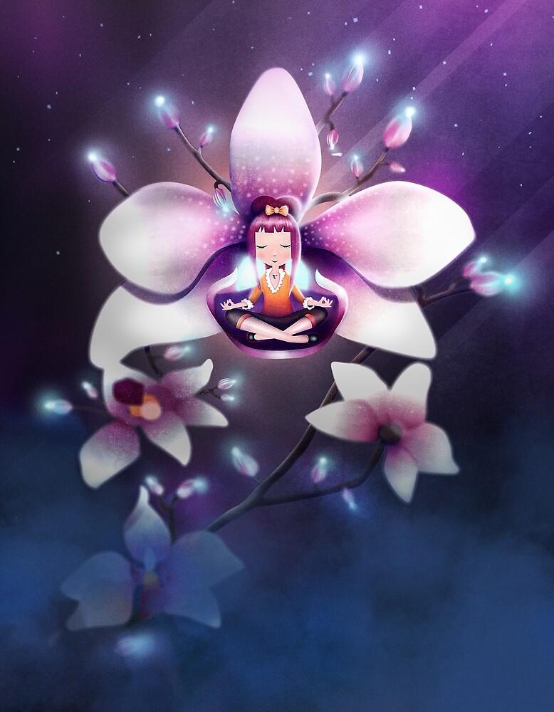 Orchid Meditation by schwebewesen