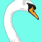 Green Swan Portrait by Adam Regester