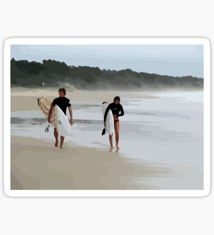 Surfer Love Sticker