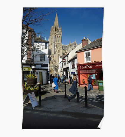 Truro Cathedral Cornwall: Springtime Poster
