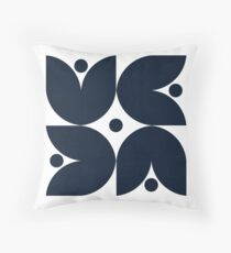 the tulips - navy Throw Pillow