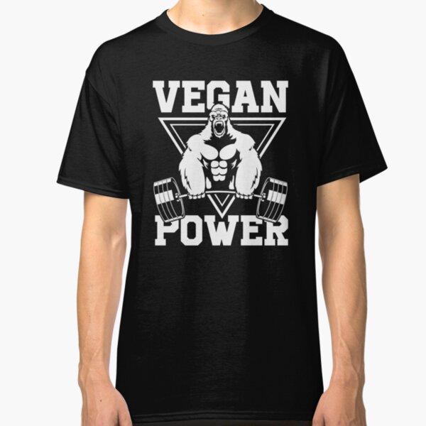 Vegan Power Workout Muscle Gorilla Bodybuilding Classic T-Shirt