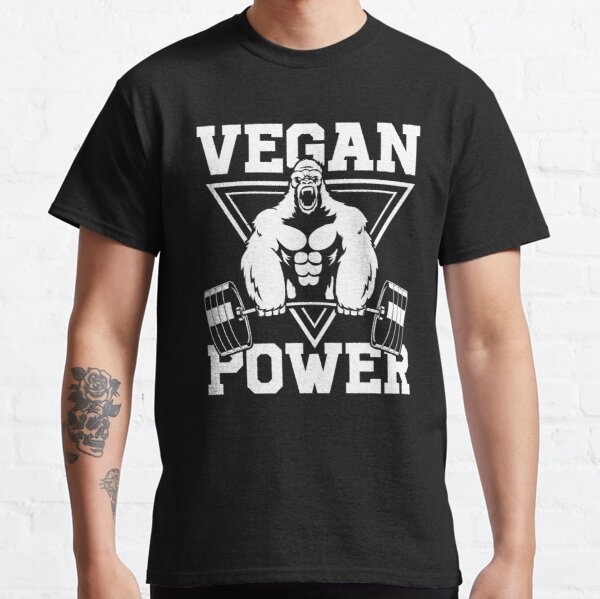 Vegan Power Workout Muscle Gorilla Bodybuilding Classic T-Shirt