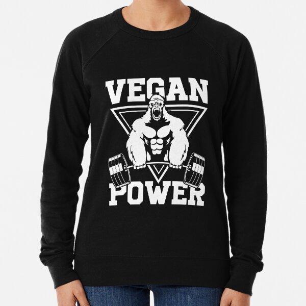 Vegan Power Workout Muscle Gorilla Bodybuilding Lightweight Sweatshirt