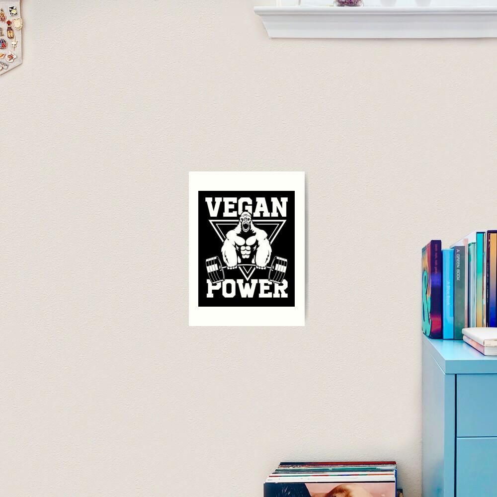 Vegan Power Workout Muscle Gorilla Bodybuilding Art Print