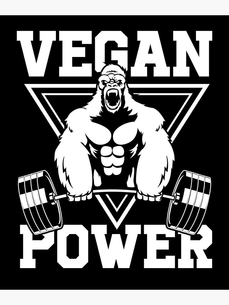 Vegan Power Workout Muscle Gorilla Bodybuilding by printedkicks