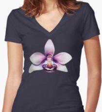 Orchideen Meditation Shirt mit V-Ausschnitt