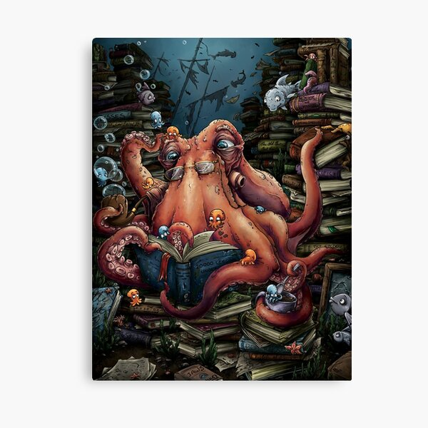 Grandpa Octopus Canvas Print