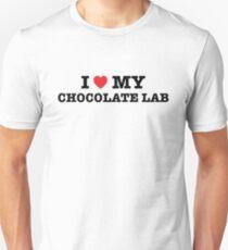 I Heart My Chocolate Lab Unisex T-Shirt