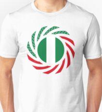 Nigerian American Multinational Patriot Flag Series Slim Fit T-Shirt