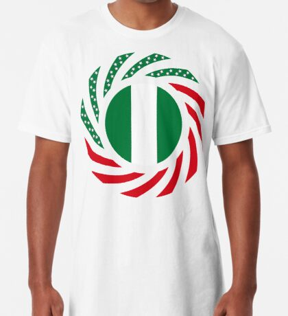 Nigerian American Multinational Patriot Flag Series Long T-Shirt