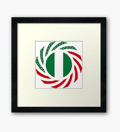 Nigerian American Multinational Patriot Flag Series Framed Print