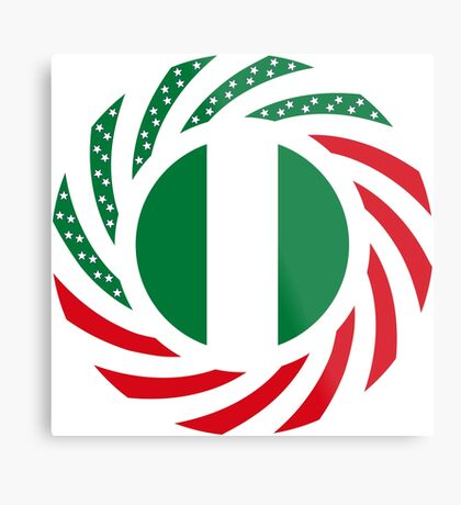 Nigerian American Multinational Patriot Flag Series Metal Print