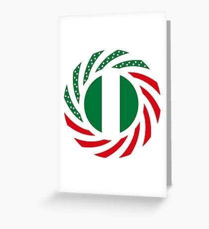 Nigerian American Multinational Patriot Flag Series Greeting Card