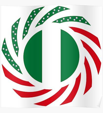 Nigerian American Multinational Patriot Flag Series Poster