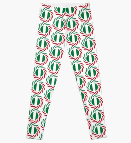 Nigerian American Multinational Patriot Flag Series Leggings