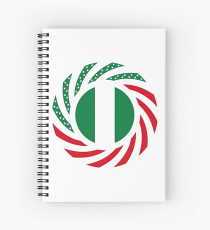 Nigerian American Multinational Patriot Flag Series Spiral Notebook