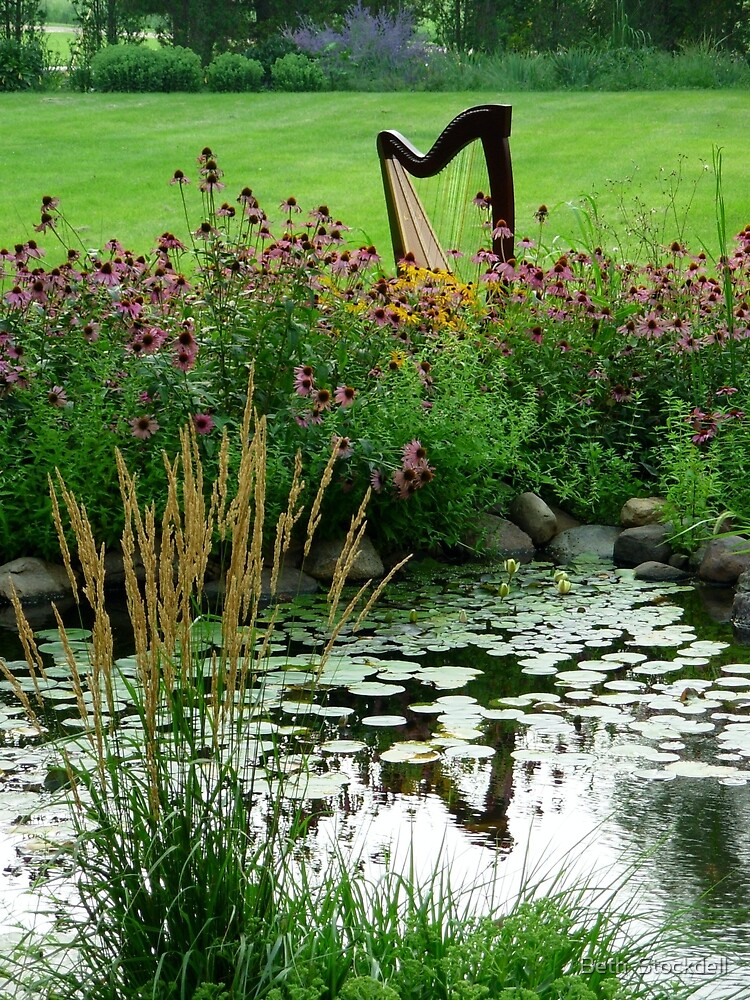 Harp with Pond by Beth Stockdell