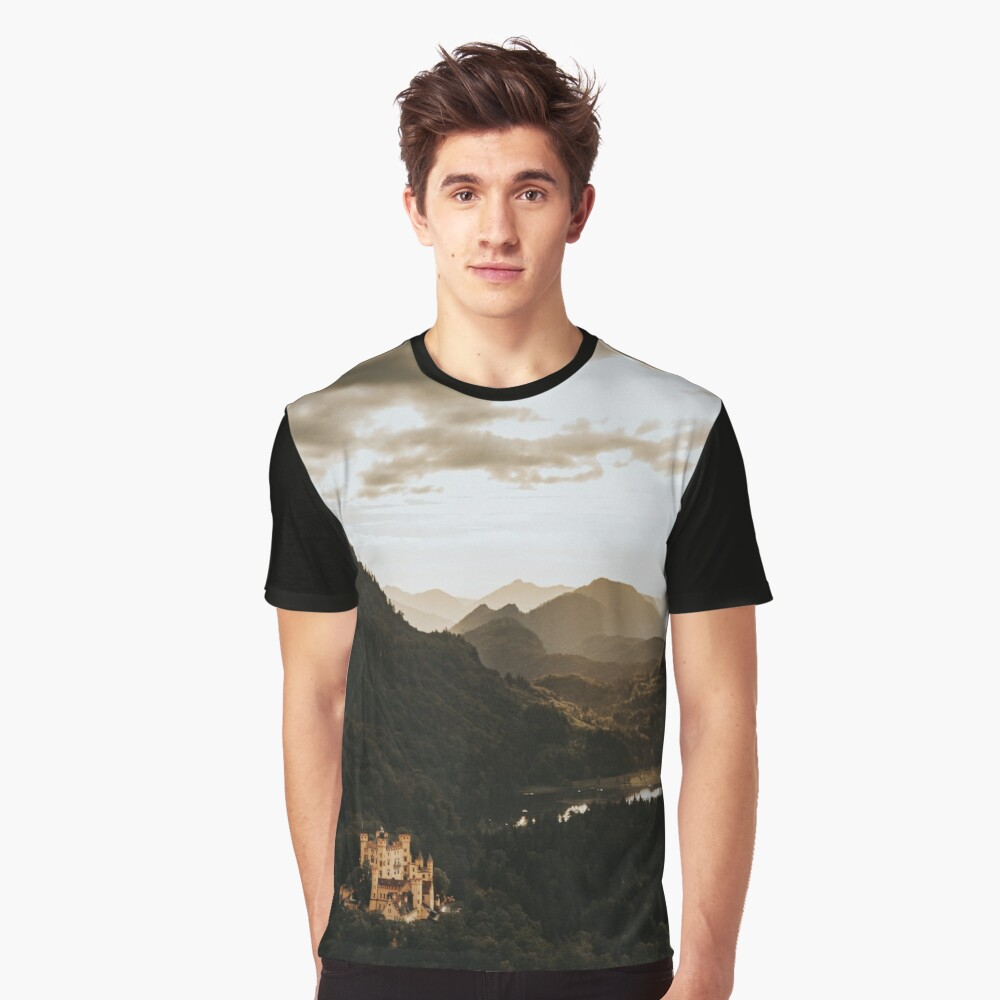 Hohenschwangau castle in Germany Graphic T-Shirt Front