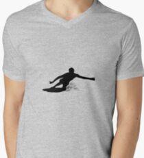 Camiseta para hombre de cuello en v Bajar la rodilla