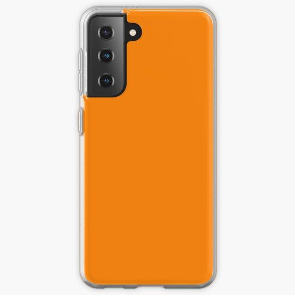 PLAIN BRIGHT NEON FLUORESCENT ORANGE - OVER 60 ORANGES IN THE OZCUSHIONS RANGE Samsung Galaxy Soft Case