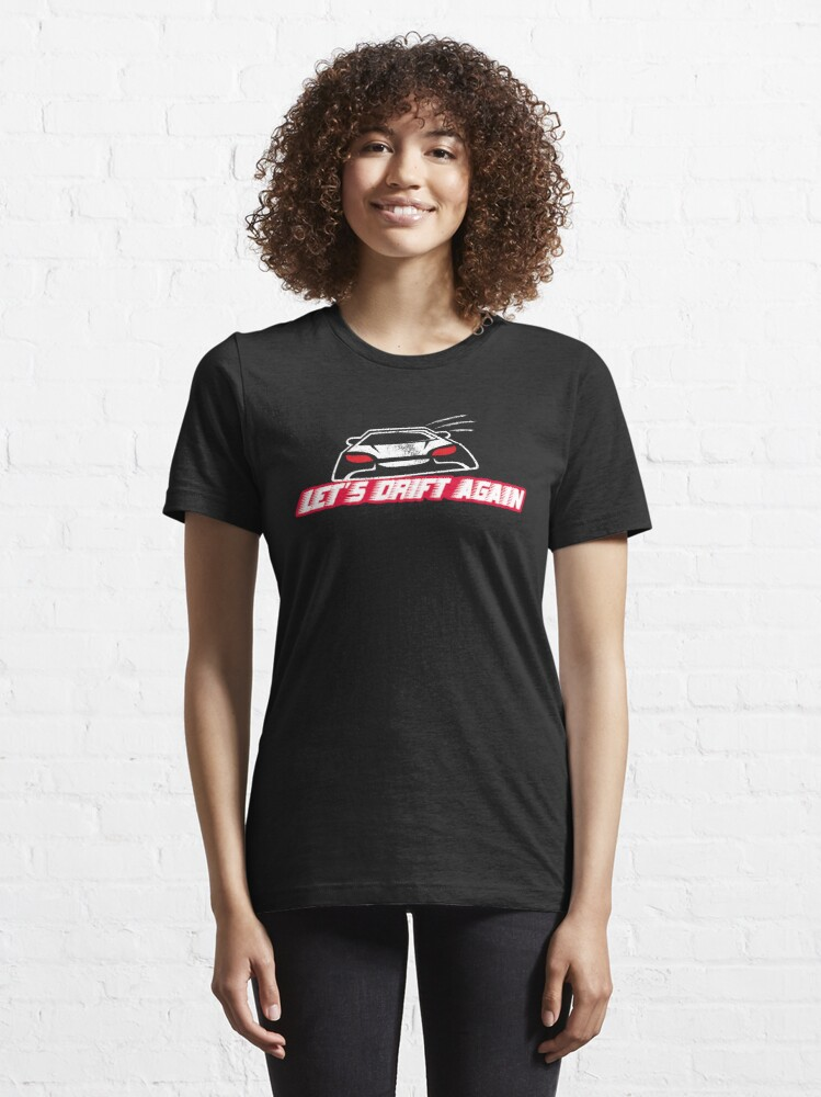 Alternate view of Let's Drift Again - Funny Car Pun Gift Essential T-Shirt
