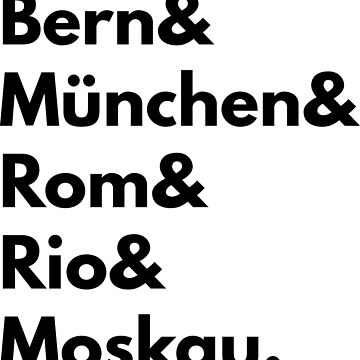 Bern München Rom Rio Moskau - Germany Football Fan T-Shirt by geeksta