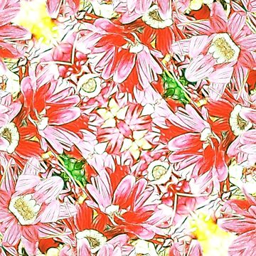 K-196 Abstract Pink Flowers by Gravityx9
