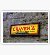 "Old Enamel Sign, ""Craven A"" Sticker"