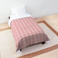 Large Lush Blush Pink Gingham Check Plaid Comforter