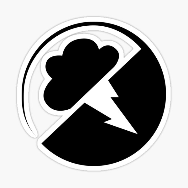 Black Interlucid Logo Sticker