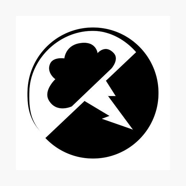 Black Interlucid Logo Photographic Print